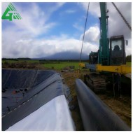 Water barrier geomembrane line